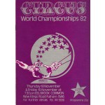 Circus World Championships Programme 1982