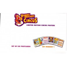 Robert Brothers Famous Circus Postcards Set 1