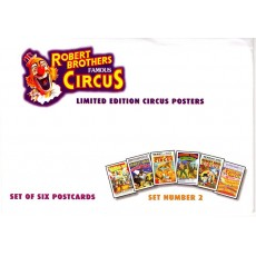 Robert Brothers Famous Circus Postcards Set 2
