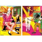 Two Postcards Le Clown & Les 4 Chats du clown Illustrateur Blemus V H