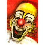 Postcard Le Clown Illustrateur Etienne Quentin